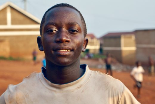 A smiling young African man