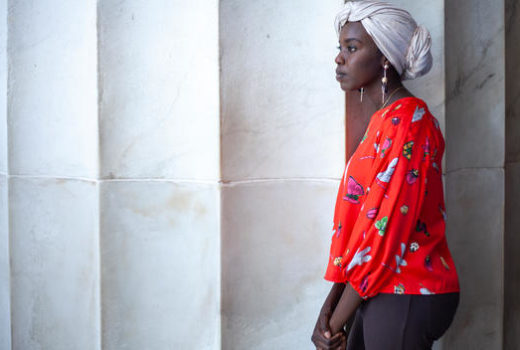 UNHCR Goodwill Ambassador and Sudanese-American slam poet Emi Mahmoud