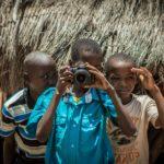 Children with camera