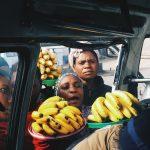 Women selling bananas