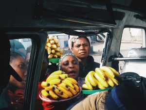 Women selling bananas